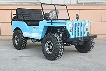 Gas Powered Mini Jeep 125cc 3 Speed Wrev Street Or Off Road Comes W