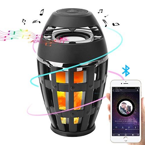 Seternaly Led Flame Speaker Torch Atmosphere Bluetooth Speaker Camping Lamp Wireless Speaker
