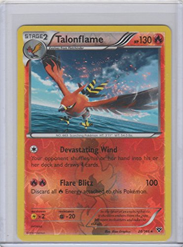 Pokemon TGC: XY Base Set Reverse Holo Talonflame RARE 28/146 Photo