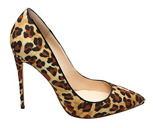 Vita Zulian Leopardo Della Donne Pompe La 4 Quotidiana Superficiale Rilevato Pattini Tallone Stiletti Punta Per Qian Leopardo TdYOWxXW