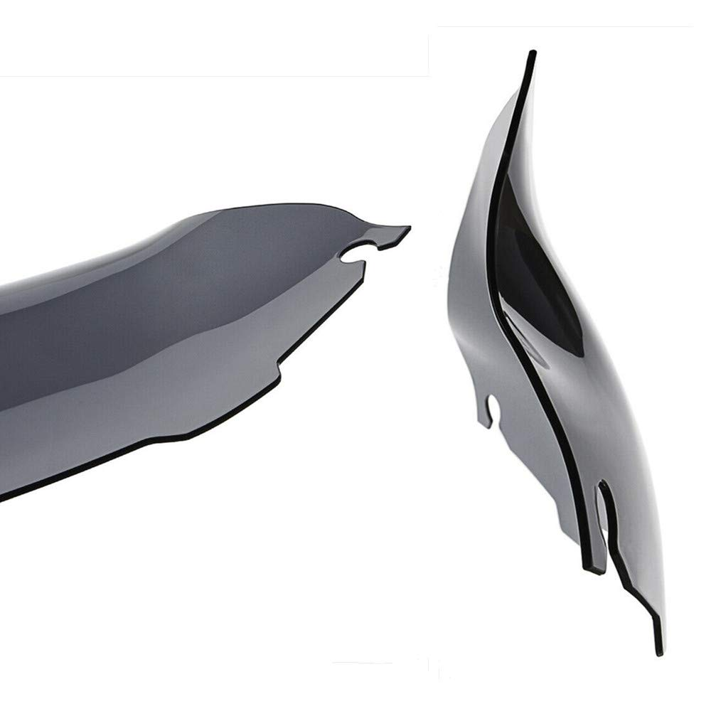Black 9 4.5 5 6 7 8 9 Motorcycle Wave Windshield Windscreen Fit For Harley Electra Street Glide Touring Bike