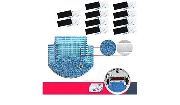 Amazon.com - HBK 20pcs/lot Original Thickness Xiaomi Mi Robot Vacuum Cleaner mop Cloths Parts kit (mop Cloths10+Magic paste10) aspirador -