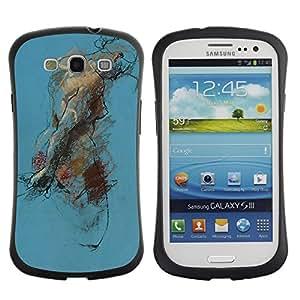 LASTONE PHONE CASE / Suave Silicona Caso Carcasa de Caucho Funda para Samsung Galaxy S3 I9300 / Body Painting Watercolor Art