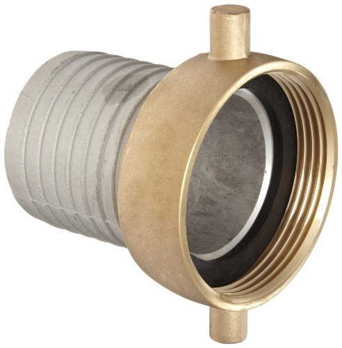 Thread Nst - Dixon FAB250N Aluminum Hose Fitting, King Short Shank Suction Coupling with Brass Nut, 2-1/2
