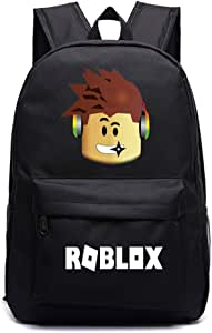 Kids Roblox Backpack Student Bookbag Laptop Bag Travel Computer Bag for Boys Girls Teens Game Fans Gifts (B)