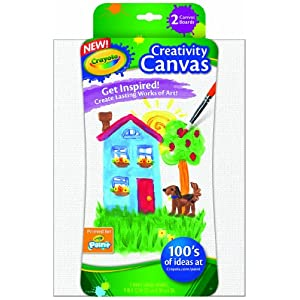 Crayola Paint Canvas Set, Painting Supplies, White, 2Count