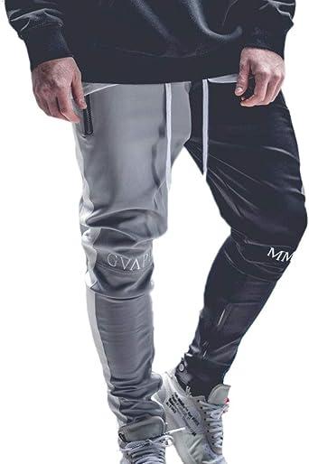 Keephen Pantalón Casual para Hombre Pantalones Cónicos De ...
