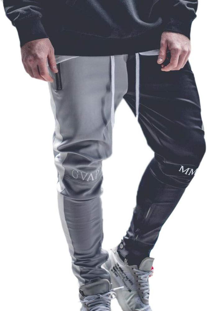 Huateng Pantalones Casuales De Hombre Pantalones De Chándal ...