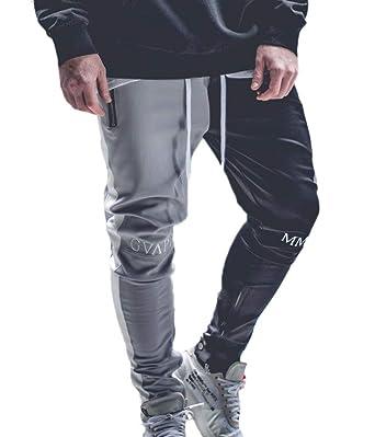 Keephen Pantalón Casual para Hombre Pantalones Cónicos De Algodón ...