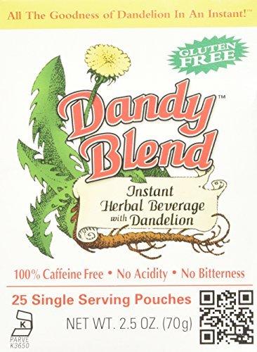 Dandy Blend, Instant Dandelion Beverage, 25 Single Serving Pouches, 2.5 oz (72 g) by Dandy Blend