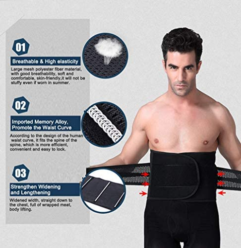 Aaiffey Lower Back Brace - Lumbar Support for Women & Men -Adjustable Compression & Breathable Waist Trainer Belt Weight Loss for Gym, Posture, Pain Relief 2