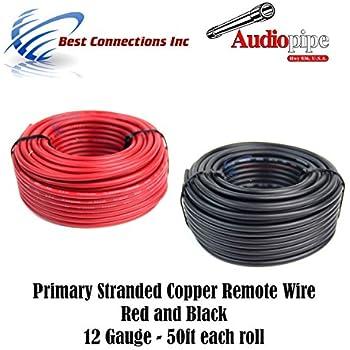 Amazon.com: 12 GAUGE WIRE RED & BLACK POWER GROUND 100 FT EACH ...