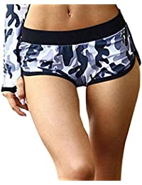 Hot Sale!Women Yoga Shorts,Canserin Women's Camouflage Running Yoga Gym Fitness Sport Pants Low-Waist Shorts Breathable Pants