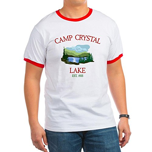 CafePress - Camp Crystal Lake Counselor Ringer T - Ringer T-Shirt, 100% Cotton Ringed T-Shirt, Vintage (Camp Counselor Costume)
