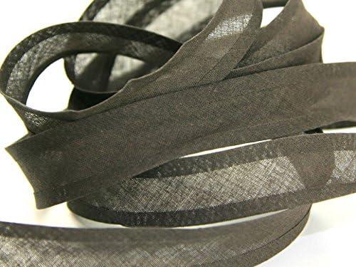 25 mm Cinta de algodón bies Marrón Oscuro – por 6 metros + libre Minerva Crafts Craft guía: Amazon.es: Hogar