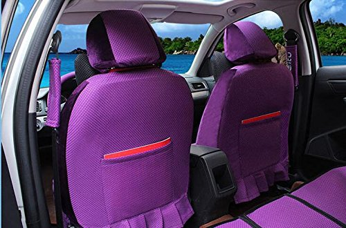20pcs/SET new 2016 luxury cartoon couples Seat Covers for cars Front & Back car covers four seasons Universal car seat cover car interior Purple V5607 by Maimai88 (Image #1)