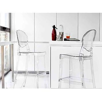 Tabouret De Bar Empilable Polycarbonate Transparent Ice Lot 2