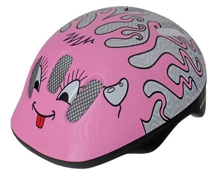 Ventura Curly - Casco de ciclismo para niños, color rosa/plateado, 52-57 cm: Amazon.es: Deportes y aire libre