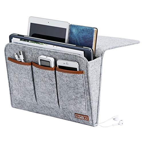 Zafit Bedside Caddy, Large Size Bedside Storage Organizer Bedside Organizer Caddy for Magazine Remotes Phone