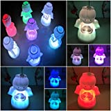 1 Pcs Convincing Modern LED Angel Shape Nightlight 7 Multicolor Gift Xmas Home Decoration Colorful Lamp Body Color White