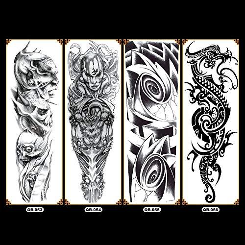 DGdolph QB Arm Flower Tattoo Sticker Waterproof Temporary Tattoo Sleeve Body Paint QB-056