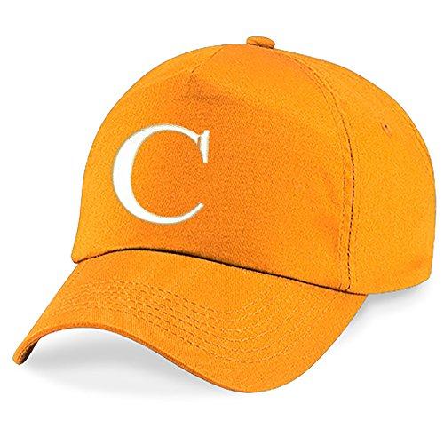 Alphabet C Hat Z Niños Gorra 4sold Bordado Orange Niños A Escuela XqwqY1v