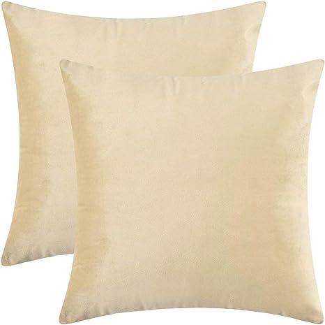 12x12 Inches Soft Square Velvet Throw Pillowcase Cushion Cover Home Sofa Decor