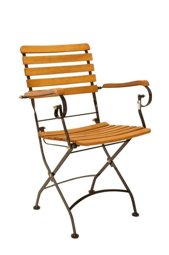 Gartenstühle metall  Amazon.de: Gartenstuhl Klappstuhl Wien mit Armlehne - Metall und FSC ...