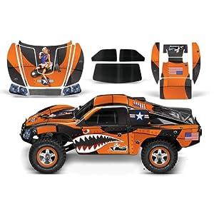 Designer Decal for Traxxas Slash 1/10 (#58034) and Slayer 1/10 (#59074) AMRRACING RC Kit - P40 Warhawk - Orange