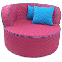 Fun Furnishings 95723 Throw Back Chair, Hot Pink/Aqua