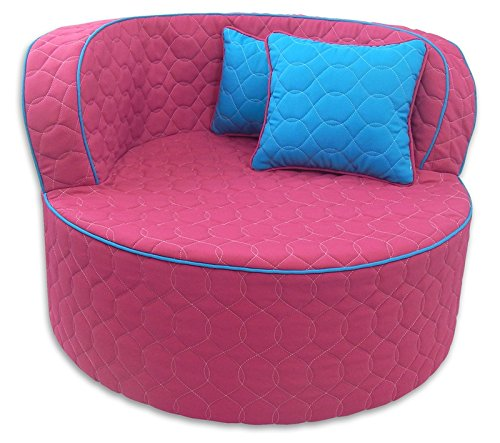 Fun Furnishings 95723 Throw Back Chair, Hot Pink/Aqua (Teenagers Cool Chairs For)