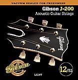 Gibson Gear SAG-J200L Phosphor Bronze Acoustic Guitar Strings, Light