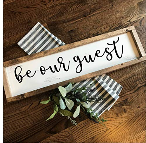 Be Our Guest   Hand-painted Over-sized Wooden Sign   Modern Farmhouse Style   Fixer Upper inspired home - Plaque Dogwood