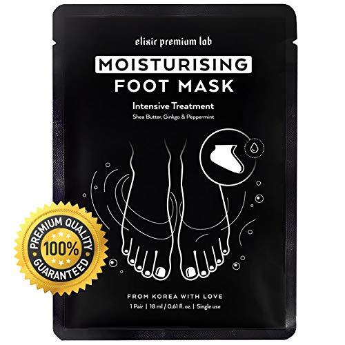 Moisturizing Foot Mask - Hydrating Socks for Women & Men - Spa Feet Treatment Booties - Best Korean Moisturizer for Dry Heel (1 Pack)