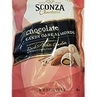 Sconza Chocolate Candy Cane Almonds with Dark & White Chocolate