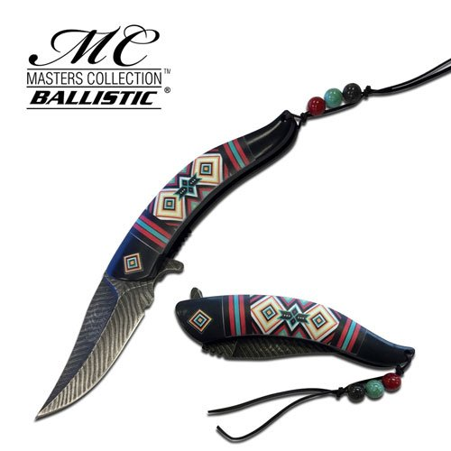 Native American Indian Collection Assisted Knife (Native American Folding Knife)