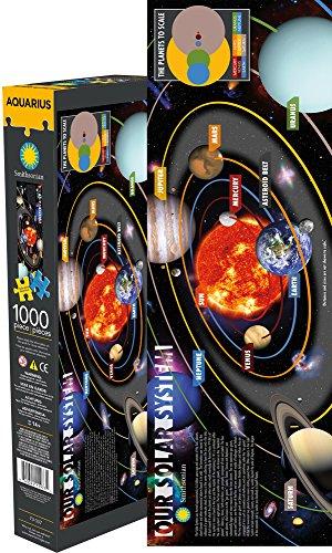 Aquarius Smithsonian Solar System Slim 1000 Piece Jigsaw Puzzle