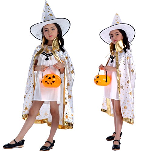Eliffete Halloween Christmas Party Witch White Collor Cloak Cosplay Dress Capes
