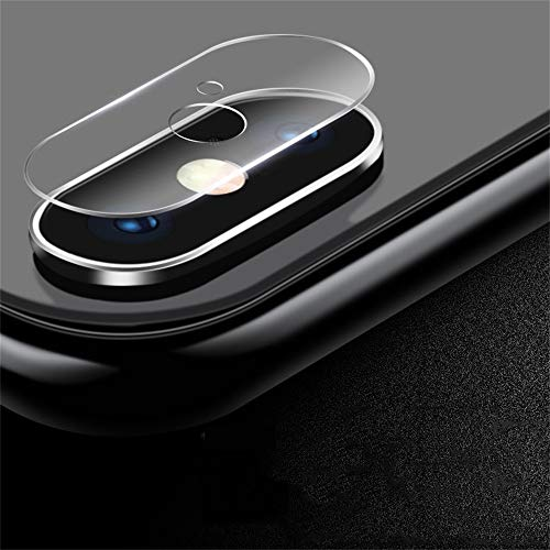 iPhone Xs/XS Max Camera Lens Protective Protector - Dual Hole Tempered Glass Anti-Scratch Protector Back Camera Case Cover iPhone Xs/XS Max 5.8inch/6.5inch,2Packs (B,iPhone Xs Max 6.5 inch)