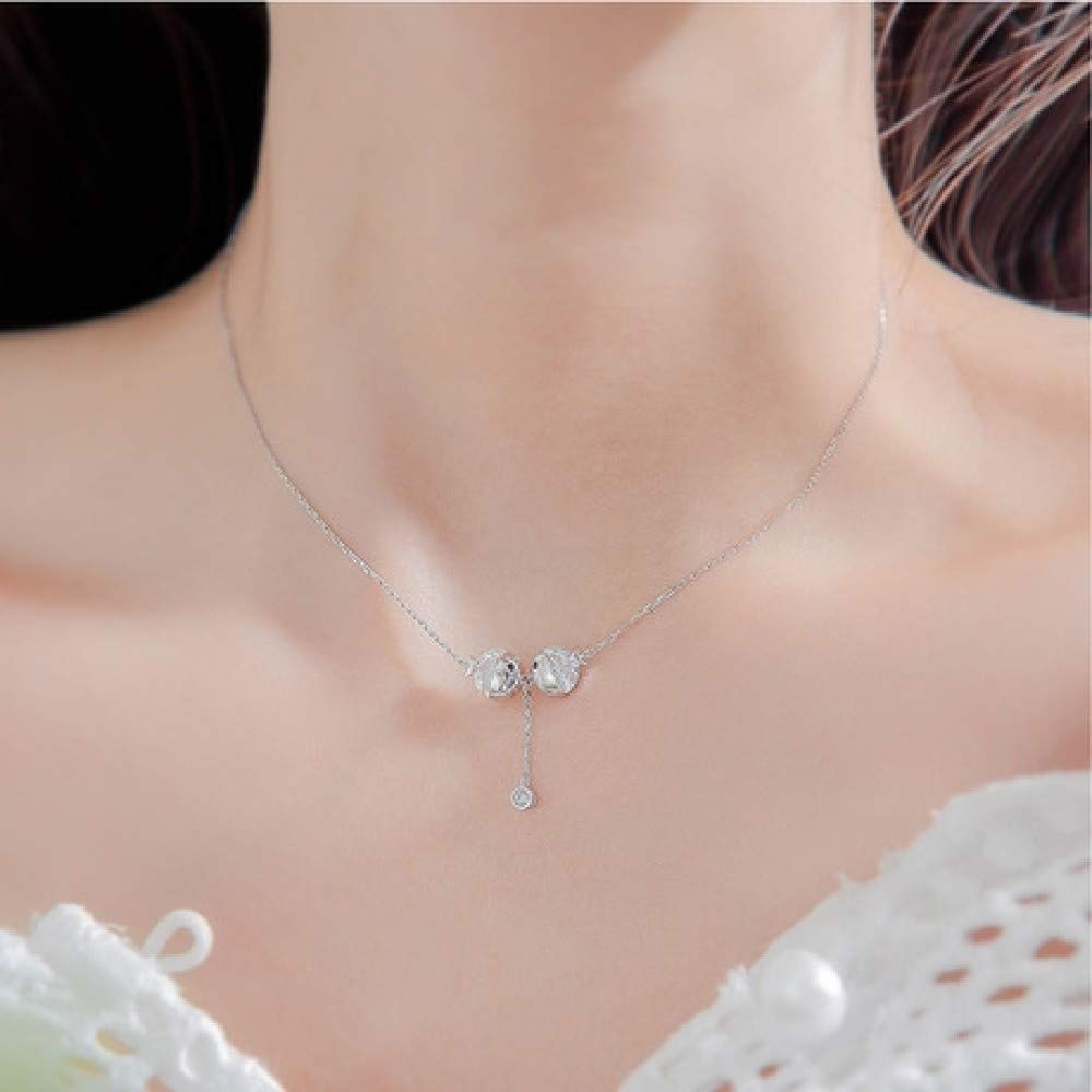 S925 Sterling Silver Simple Necklace Creative Pendant Personalized Accessories Wild Pendant Gifts Couples Hipsters Must