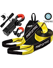"""Tow Strap Heavy Duty Recovery Gear - Complete Recovery Strap Set with 3"""" X30' (30k lbs.) Tow Rope + 2"""" Shackle Hitch Receiver + 5/8 Pin Lock + 3/4 D Ring Shackles + Bag"""