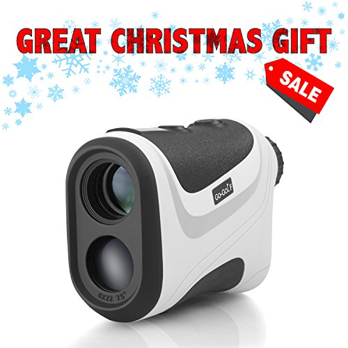 Go-Golf Golf Rangefinder | Laser Range Finder With Pin Sensor & Pulse Tech | Easy To Use, Compact, Accurate & Clear Reading | Golf Binoculars Yardage Rangefinder