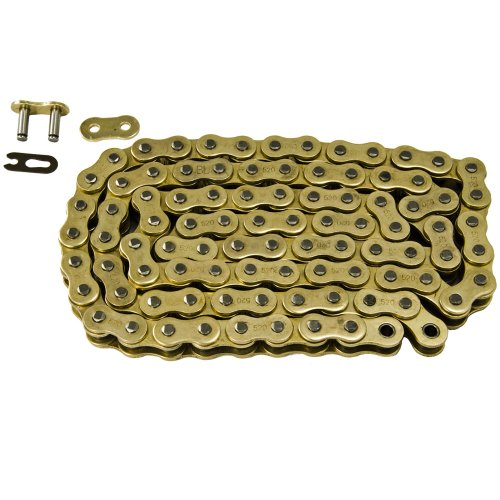Max Motosports 520 Pitch 102 Links Gold Standard Chain for Suzuki LT250 LT250R Quadracer 1985 1986 1987 1988 1989 1990 1991 1992 1993