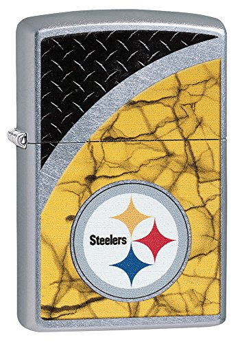 Zippo NFL Pittsburgh Steelers Street Chrome Pocket Lighter