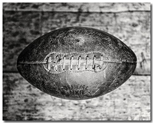 Black and White Football Decor - Art for Boys Room - Gift for Football Coach - Photo of Vintage 1940s (Vintage Football Black And White)
