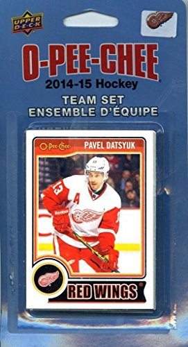 Upper Deck Detroit Red Wings - Detroit Red Wings 2014 2015 O Pee Chee NHL Hockey Brand New Factory Sealed 16 Card Licensed Team Set Made By Upper Deck Including Pavel Datsyuk, Jim Howard, Henrik Zetterberg Plus