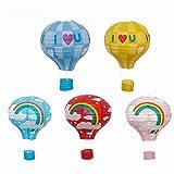 Energi8_DIY 1 pcs (12inch) Rainbow Blue Paper Lantern Hot Air Balloon Sky Lanterns Home