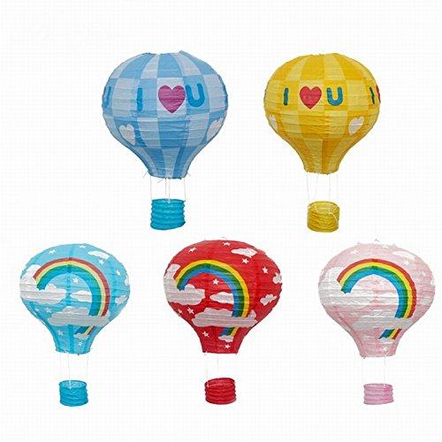 Energi8_DIY 1 pcs (12inch) Love Blue Paper Lantern Hot Air Balloon Sky Lanterns Home