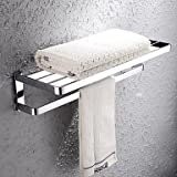 MEI Towel Bar / Bathroom Shelf Chrome Wall Mounted 672720cm(26.810.88inch) Brass Contemporary