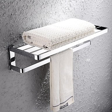 MEI Towel Bar / Bathroom Shelf Chrome Wall Mounted 672720cm(26.810.88inch) Brass Contemporary by MEI